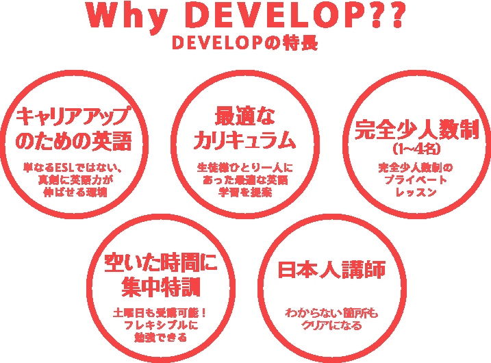 Why DEVELOP?? DEVELOPの特長